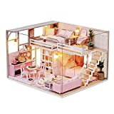 MAGQOO 3D Dollhouse Miniature with Furniture, DIY House Kit with Dust Proof 1:24 Scale Creative Room Idea (Girlish Dream)