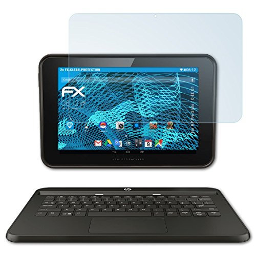 atFolix Schutzfolie kompatibel mit HP Pro Slate 10 EE G1 Folie, ultraklare FX Bildschirmschutzfolie (2X)