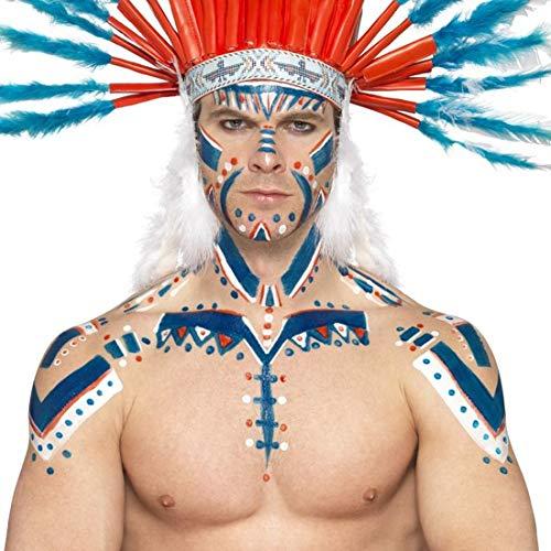 Amakando Lquido Latex Carnaval Ltex lquido Azul 56 ml Maquillaje Noche de Brujas Complemento Disfraz Indio Color pitufo Accesorio cosmtico Halloween