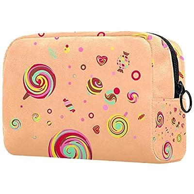 Trousse de Maquillage Organisation Rangement Cosmétique Portable Lollipops Candy pour Les Voyages Plein air