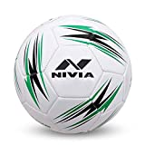 NIVIA Blaze Machine Stitched Football Size - 5 (Black-Green)