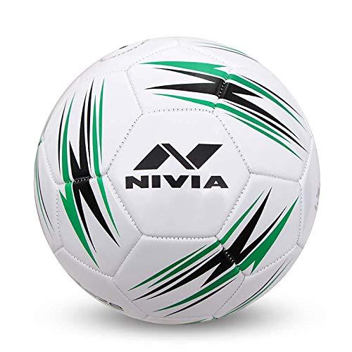NIVIA Blaze Machine Stitched Football Size - 5 (Black-Green)
