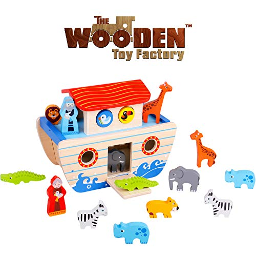 The Wooden Toy Factory - Set de Juegos del Arca de Noé...