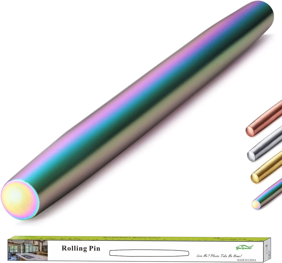 Berglander Rainbow Rolling Pin 16.7 Inches Colo Stainless At the price Max 56% OFF of surprise Steel