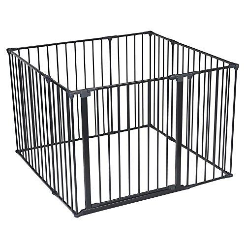 Safetots Cage de jeu (Noir, 105 x 105 cm)