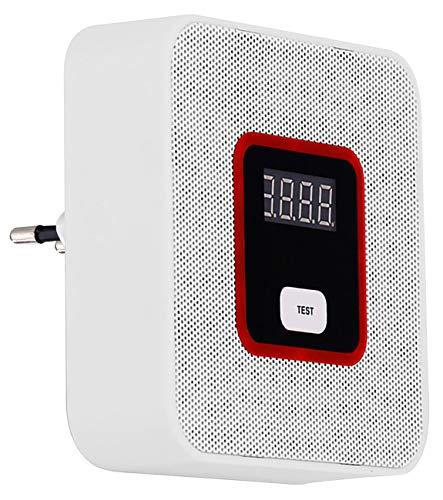 VisorTech Gasmelder Wohnmobil: Steckdosen-Multi-Gasmelder für haushaltsübliche Gase, 85 dB (Gasdetektor Erdgas)