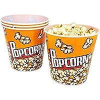 com-four® Cubo de Palomitas de maíz 4X, Recipiente de Palomitas de maíz con una Capacidad de 2,8 litros Cada uno (04 Piezas)