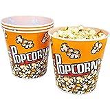 com-four® 4X Cubo de Palomitas para el Cine en casa - Bol de Palomitas de maíz, Cada uno...