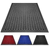PazCaz Fußmatte Grau [EXTRA dünn und rutschfest] Optimale Größe für die Haustür Fussmatte außen und innen | Fußmatte außen mit Anti-Rutsch Unterseite | Fußmatten Grau 40x60 cm fussmatte außen Grau