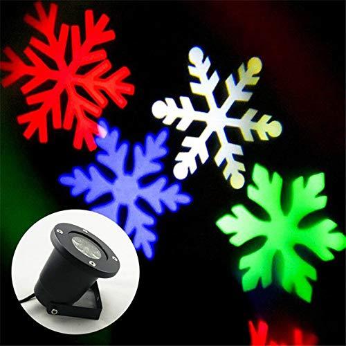 Luz de Copo de Nieve Exterior de la casa Impermeable Exterior Móvil Pantalla de Copo de Nieve Exterior Luz de Pared Paisaje Proyector Iluminación