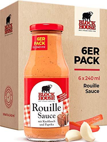 Block House Rouille Sauce 6x 240ml für Fleisch oder Fisch - in Restaurantqualität