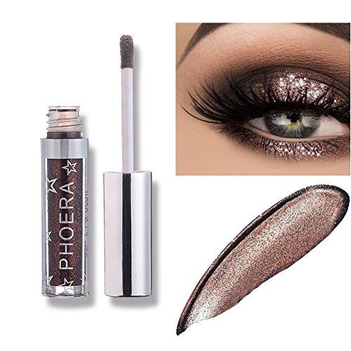 Ombretto, PHOERA Ombretto Glitter liquido Lustro Matalic Makeup Eyes Ombretto con glitter e bagliore impermeabile Ombretto (A107)