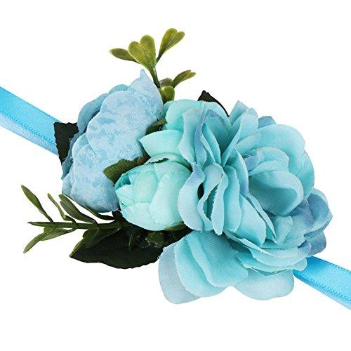 Demarkt bloemenarmband voor bruiloften, voor meisjes, bruidsmeisjes, feestbloemen om de pols vast te maken met armband