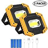 Lampada LED Esterni 30W, T-SUN 2000LM Lampada da Lavoro a LED Ricaricabile a Tenuta stagna Impermeabile, 3 modalità Regolabili. (Batteria Inclusa)