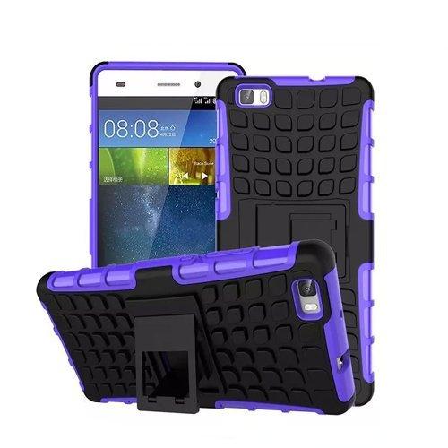 Huawei P8 Lite / Dual-SIM Outdoor Handy Tasche Blau Hybrid Hülle Schutz Hülle Panzer TPU Silikon Hard Cover Bumper   betterfon