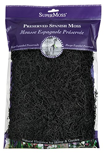SuperMoss (26973) Spanish Moss Preserved, Black, 8oz