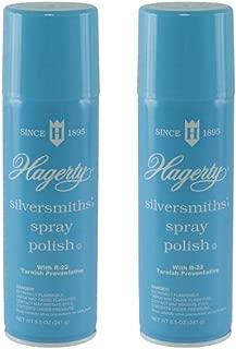 Hagerty Silversmiths Aerosol Spray Polish, Unscented 8.5 Oz (Pack of 2)