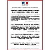 UTTSCHEID Alcool - Protection des MINEURS ET RÉPRESSION DE L'IVRESSE - Consommation sur Place - Autocollant Waterproof - L.148 x H.210
