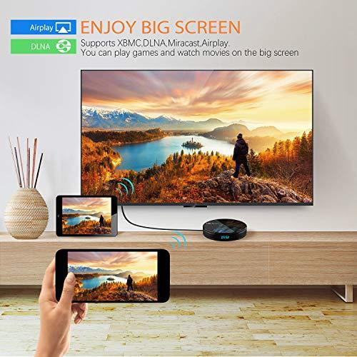Sofobod HK1 MAX Smart-TV-Box Android 10.0-TV-Box 4 GB RAM 32 GB ROM, RK3318 Cortex-A53 64-Bit-Quad-Core-CPU, 2,4 G- und 5 G-Dual-WiFi, BT4.0, H.265 / HD / 4K