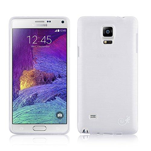 JAMMYLIZARD Jammy Lizard - Cover in silicone per Samsung Note 4, colore: Bianco