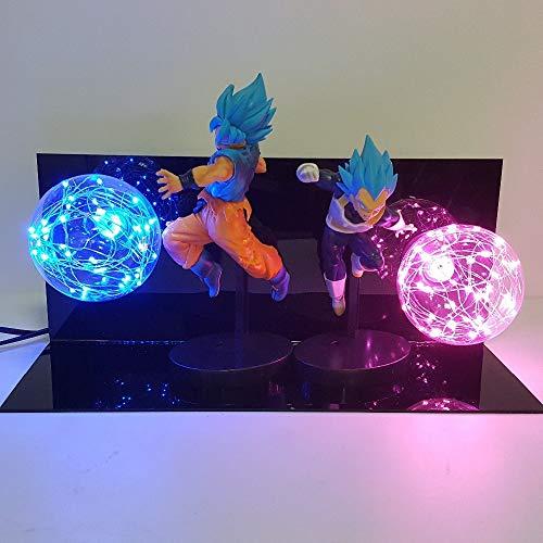 Dragon Ball Super Lampe Goku Vegeta Kamehameha Galick GUN Lamparas Dragon Ball Z Lampe De Bureau Super Saiyan DBZ Led Veilleuse