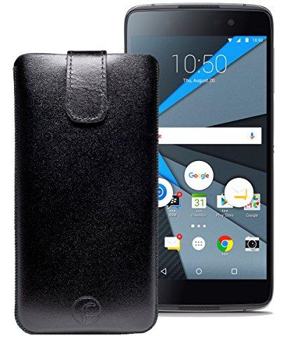 Original Favory Etui Tasche für BlackBerry DTEK50   Leder Etui Handytasche Ledertasche Schutzhülle Hülle Hülle Lasche mit Rückzugfunktion* in schwarz
