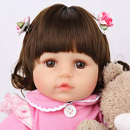 CHAREX Realistic Reborn Baby Doll, Lifelike 18 inch Vinyl Newborn Doll, Weighted Reborn Toddler...