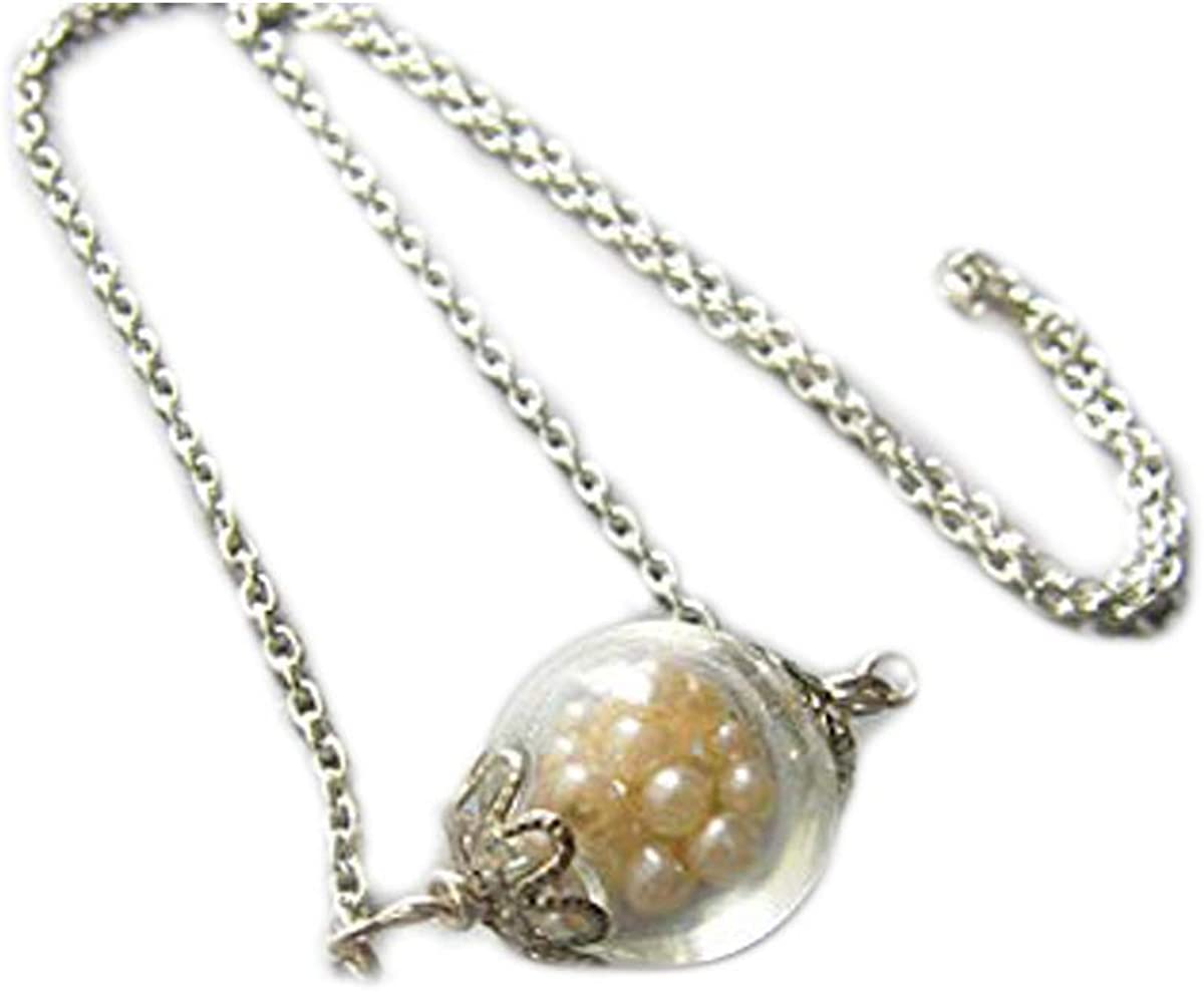 Glass Necklace, Filled With Pearls, Pearl Necklace, Bridesmaid Jewelry, Wedding Necklace