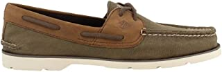 Sperry Men's Leeward 2-Eye Surpluss Olive/Brown 7.5 M US