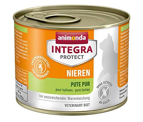 animonda Integra Protect Nieren Katzen, Nassfutter bei Niereninsuffizienz, Pute pur, 6 x 200 g
