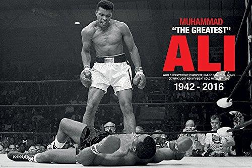 empireposter Muhammad Ali Conmemorativo–Ali v Liston–Tamaño (cm), aprox. 91,5x 61cm–Póster, Nuevo–Descripción:–Deportes Póster Foto boxkampf Muhammad Ali de