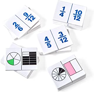 hand2mind Plastic Fraction Dominoes Game Tiles, Montessori Math Materials for Kids to Learn Decimal and Fraction Equivalen...