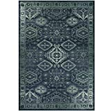 Maples Rugs Georgina Traditional Area Rugs for Living Room & Bedroom [Made in USA], 7 x 10, Navy Blue/Green