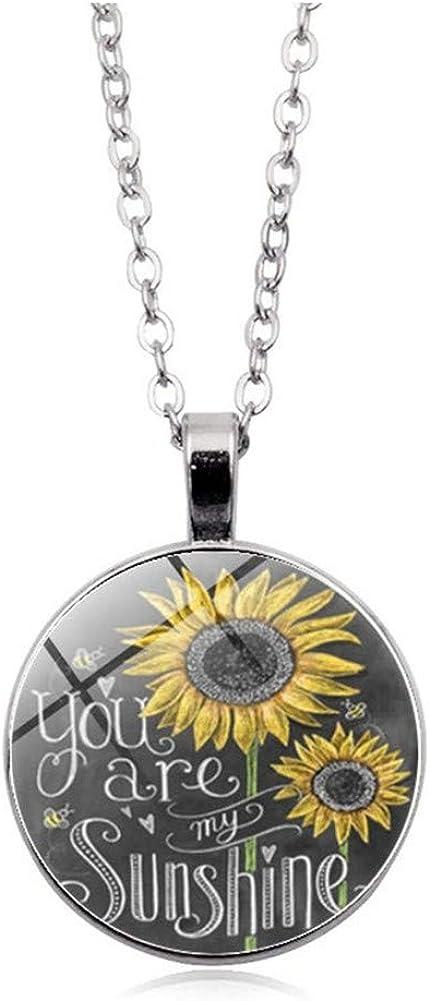 Eleusine Sunflower Popular overseas Bronze Locket OFFicial shop Necklace Jewelry Charm Pendant