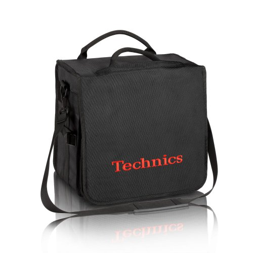 Technics BackBag schwarz mit roter Schrift