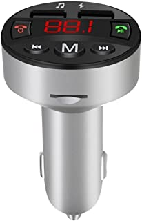 Oucan Dual USB Charger Audio MP3 Player,Music Player Bluetooth Car Kit Wireless FM Transmitter