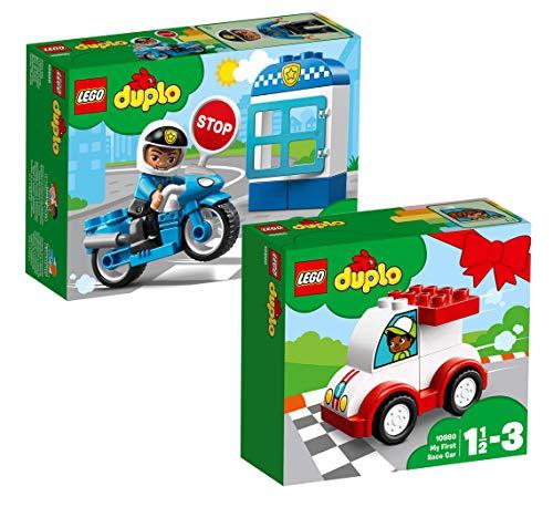 LEGO Duplo Set: 10860 Rennwagen + 10900 Polizeimotorrad