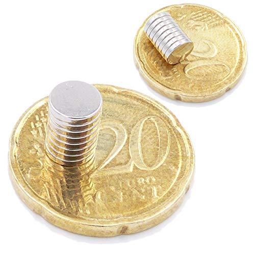 Brudazon | 25 Mini Imanes Discos 6x1mm | N52 Nivel más Fuerte - Los imanes de neodimio Ultra Fuertes | Imán del Poder para la Toma de Modelo, Foto, Pizarra Blanca | Pequeño, Redondo y Extra Fuerte
