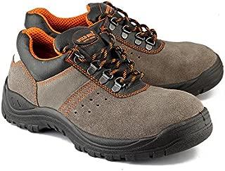 Wild Bull Sumo Leather Mens Safety Shoe (41 Eu/7 Uk India)(Grey:Orange)