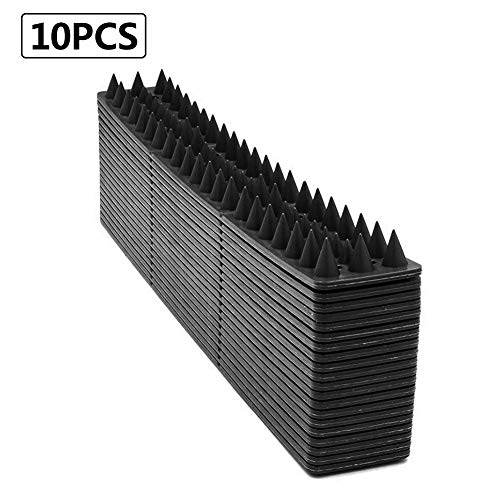 ollectibo-11 10 PCS Fence Wall Spikes,Anti Climb Security Wall Fence, Bird Spikes Burglars Cats Birds Repellent Deterrent Spikes,Intruder Deterrent,50CM