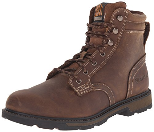 """Ariat Groundbreaker 6"""""""" Men's Safety Toe Lace-up Work Boot, Brown, 9.5"""