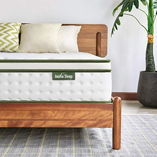 Inofia Sleep Mattress,Hybrid Innerspring Mattress in a Box,9 Zoned Support Mattress Gives Advanced Pressure Point Relief,the HOPE Collection (25cm, Double(135x190x25cm))