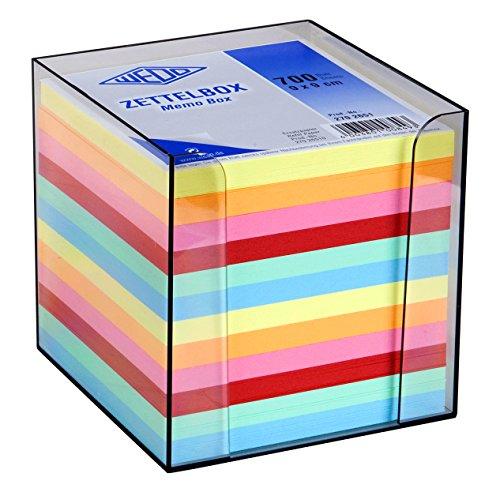 Wedo 2702651 - Porta tacos de notas, 9 x 9 cm, humo
