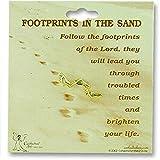 Cathedral Art TF807 Footprints Inspirational Lapel Pin