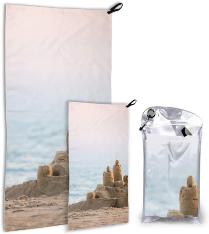 WUTMVING Holiday Sandcastle Beach Art Limited time for free shipping Microfiber Beac 67% OFF of fixed price 2 Pack Boy