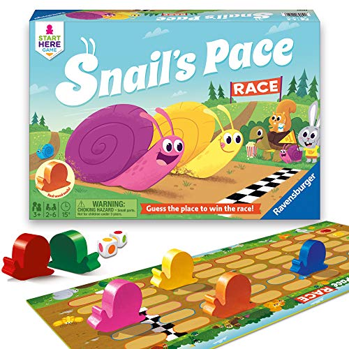 Ravensburger Snail's Pace Race Game for Age 3 & Up - Quick Children's Racing Game Where Everyone Wins!