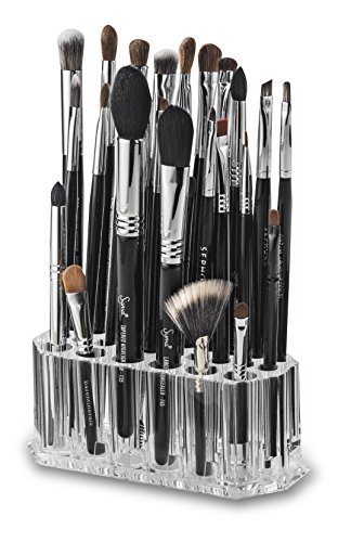 byAlegory Acryl Makeup Beauty Brush Organizer für schlanke Griffe | 26 Space Cosmetic Storage Displaybehälter