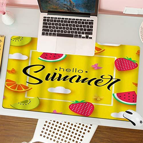 Alfombrilla para ratón (80x30 cm). Frutas de Verano con Hello Summer Quote...