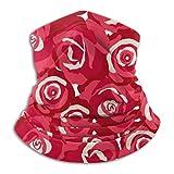 N / A Rosas Rojas Románticas Pasamontañas Protección UV Cubierta De La Cara...