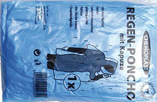 Kraftmann 80895 | regenponcho | universele maat | regencape/regenjas wegwerp met capuchon